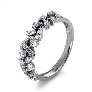 14 kt white gold multi stone with 38 diamonds 1P244W454-1