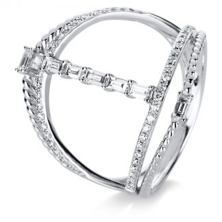 14 kt white gold multi stone with 57 diamonds 1C702W453-1