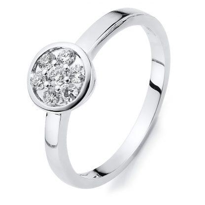 14 kt white gold multi stone with 7 diamonds 1C006W454-1