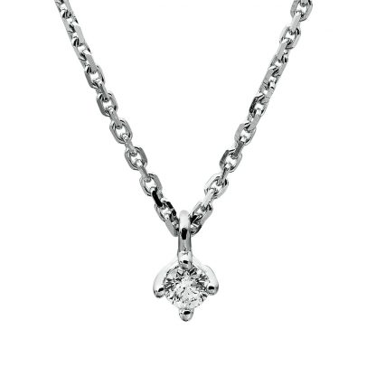 14 kt white gold necklace with 1 diamond 4A305W4-9