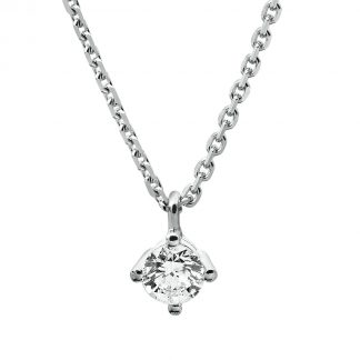14 kt white gold necklace with 1 diamond 4A308W4-10