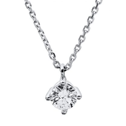 14 kt white gold necklace with 1 diamond 4A310W4-3