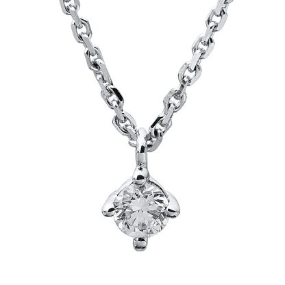 14 kt white gold necklace with 1 diamond 4A310W4-9
