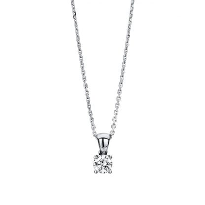 14 kt white gold necklace with 1 diamond 4A326W4-2