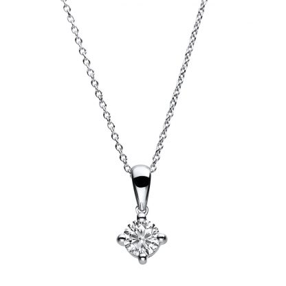 14 kt white gold necklace with 1 diamond 4A783W4-2