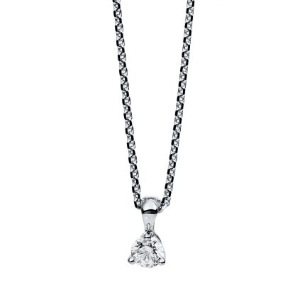 14 kt white gold necklace with 1 diamond 4B603W4-1