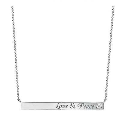 14 kt white gold necklace with 1 diamond 4E070W4-1