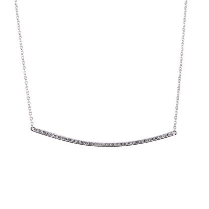 14 kt white gold necklace with 36 diamonds 4A004W4-4