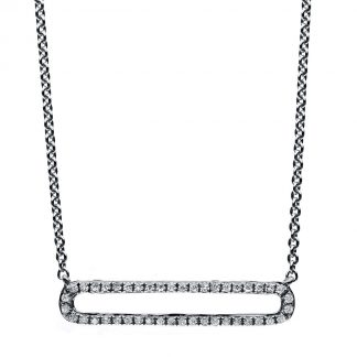 14 kt white gold necklace with 44 diamonds 4B028W4-2