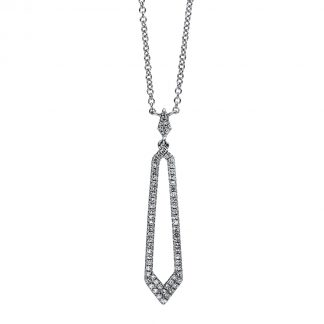 14 kt white gold necklace with 66 diamonds 4C401W4-1