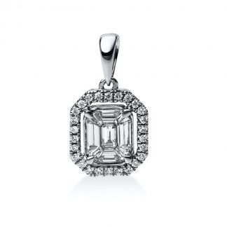 14 kt white gold pendant with 35 diamonds 3C371W4-1