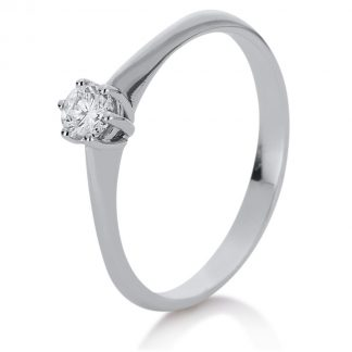 14 kt white gold solitaire with 1 diamond 1A080W455-1