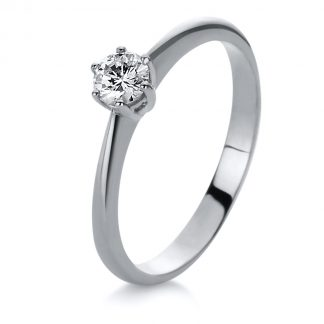 14 kt white gold solitaire with 1 diamond 1A081W455-1