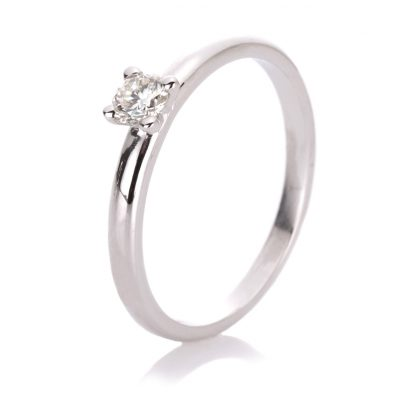 14 kt white gold solitaire with 1 diamond 1A092W454-1
