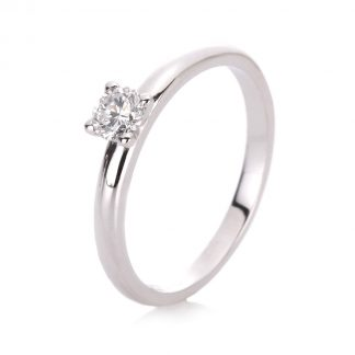 14 kt white gold solitaire with 1 diamond 1A093W454-2