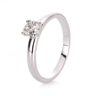 14 kt white gold solitaire with 1 diamond 1A095W454-2