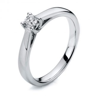14 kt white gold solitaire with 1 diamond 1A114W454-1