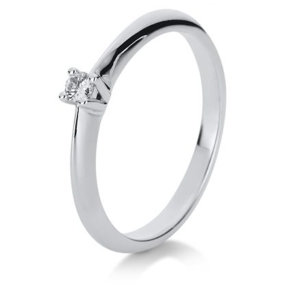14 kt white gold solitaire with 1 diamond 1A123W454-1