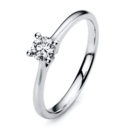 14 kt white gold solitaire with 1 diamond 1A173W454-1