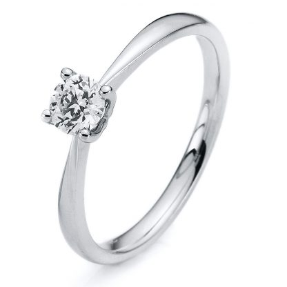 14 kt white gold solitaire with 1 diamond 1A177W454-1