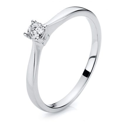 14 kt white gold solitaire with 1 diamond 1A199W454-1