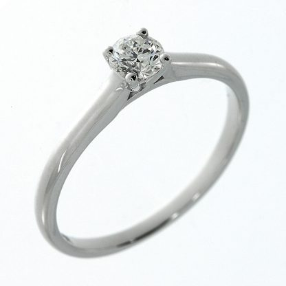 14 kt white gold solitaire with 1 diamond 1A222W453-1