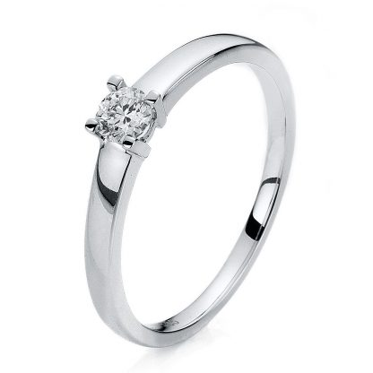 14 kt white gold solitaire with 1 diamond 1A254W454-1