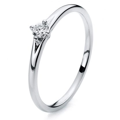 14 kt white gold solitaire with 1 diamond 1A261W454-1