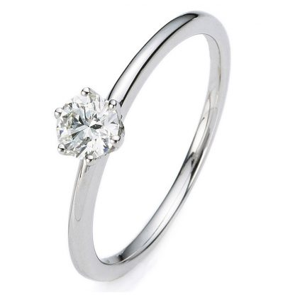 14 kt white gold solitaire with 1 diamond 1A277W454-4