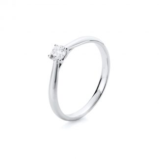 14 kt white gold solitaire with 1 diamond 1A290W456-2