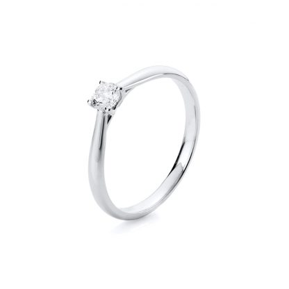 14 kt white gold solitaire with 1 diamond 1A290W456-5