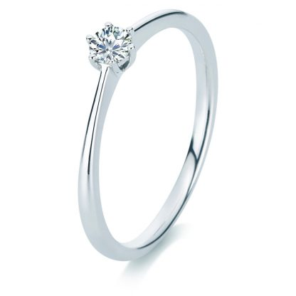 14 kt white gold solitaire with 1 diamond 1A329W456-1