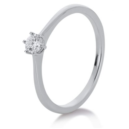 14 kt white gold solitaire with 1 diamond 1A330W454-4