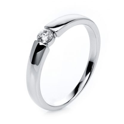 14 kt white gold solitaire with 1 diamond 1A396W454-2