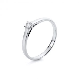 14 kt white gold solitaire with 1 diamond 1A440W455-4