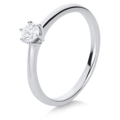 14 kt white gold solitaire with 1 diamond 1A482W454-3