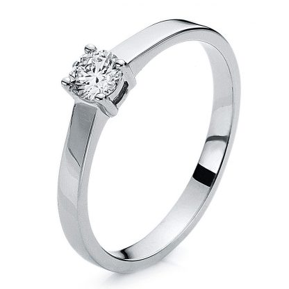 14 kt white gold solitaire with 1 diamond 1A640W453-1