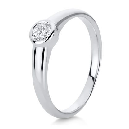 14 kt white gold solitaire with 1 diamond 1C512W454-1