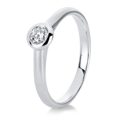 14 kt white gold solitaire with 1 diamond 1C532W454-3