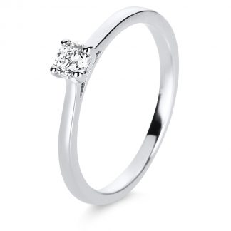 14 kt white gold solitaire with 1 diamond 1E199W454-2