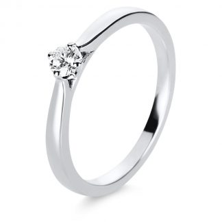 14 kt white gold solitaire with 1 diamond 1E234W454-4
