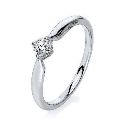 14 kt white gold solitaire with 1 diamond 1L115W453-1
