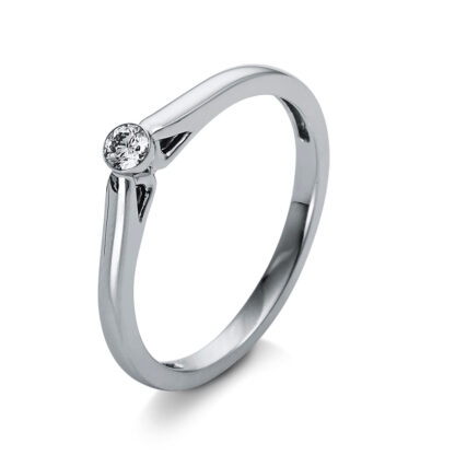 14 kt white gold solitaire with 1 diamond 1O444W453-1
