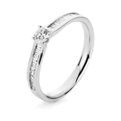 14 kt white gold solitaire with side stones with 23 diamonds 1C536W454-3
