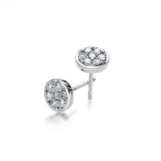 14 kt white gold studs with 14 diamonds 2A233W4-1