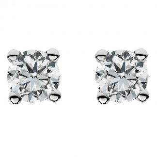 14 kt white gold studs with 2 diamonds 2A019W4-2