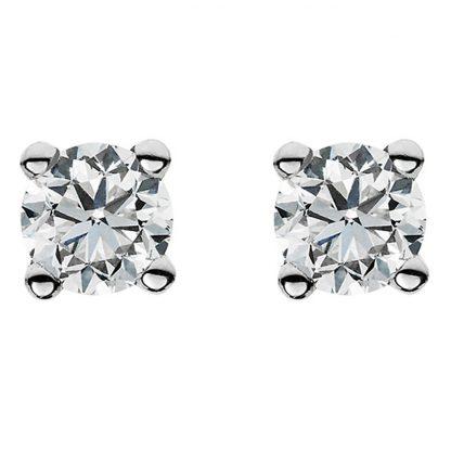14 kt white gold studs with 2 diamonds 2A019W4-2