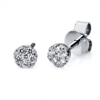 14 kt white gold studs with 22 diamonds 2A723W4-1