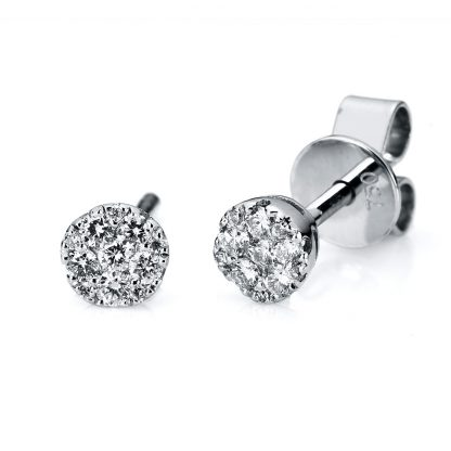 14 kt white gold studs with 22 diamonds 2A723W4-1