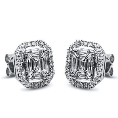 14 kt white gold studs with 70 diamonds 2F047W4-1